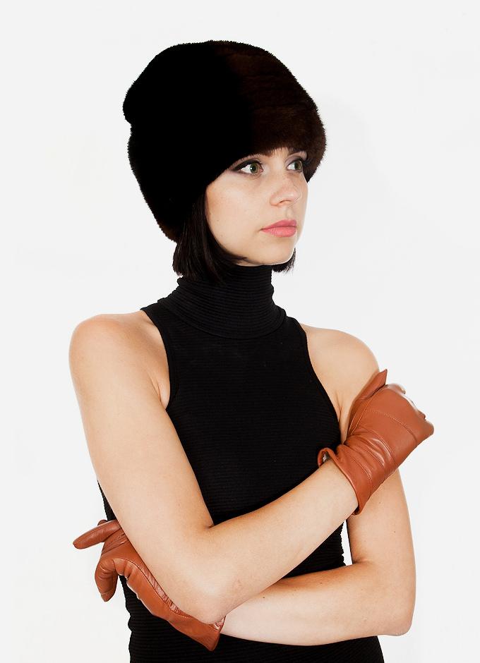 natūralaus kailio kepurė